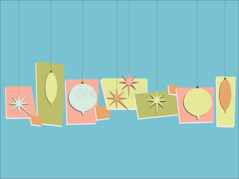 Retro ornamenten stock illustratie