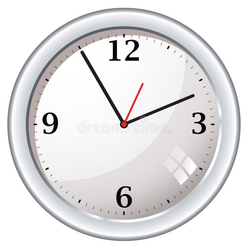 Retro orologio di parete moderno royalty illustrazione gratis