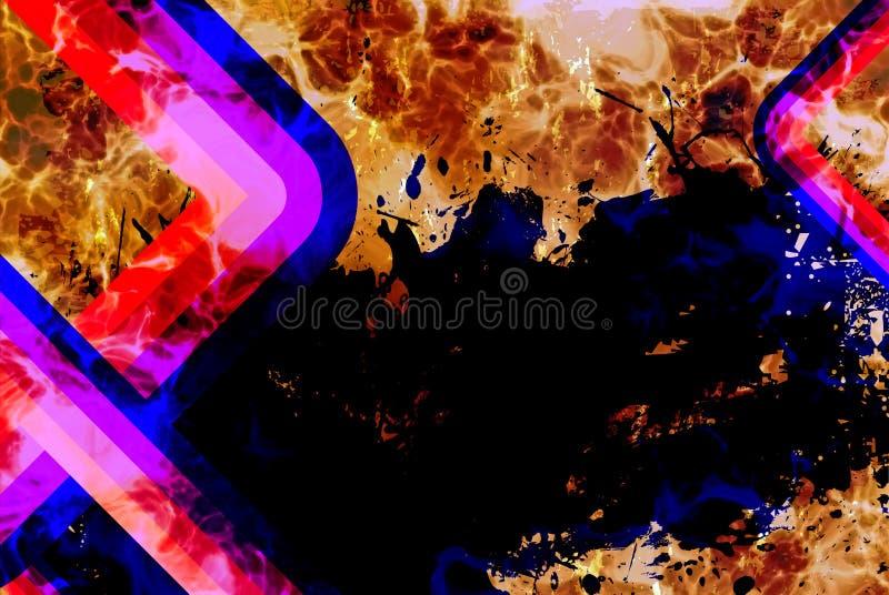 Download Retro ostry grunge ilustracji. Ilustracja złożonej z krzywa - 13334706