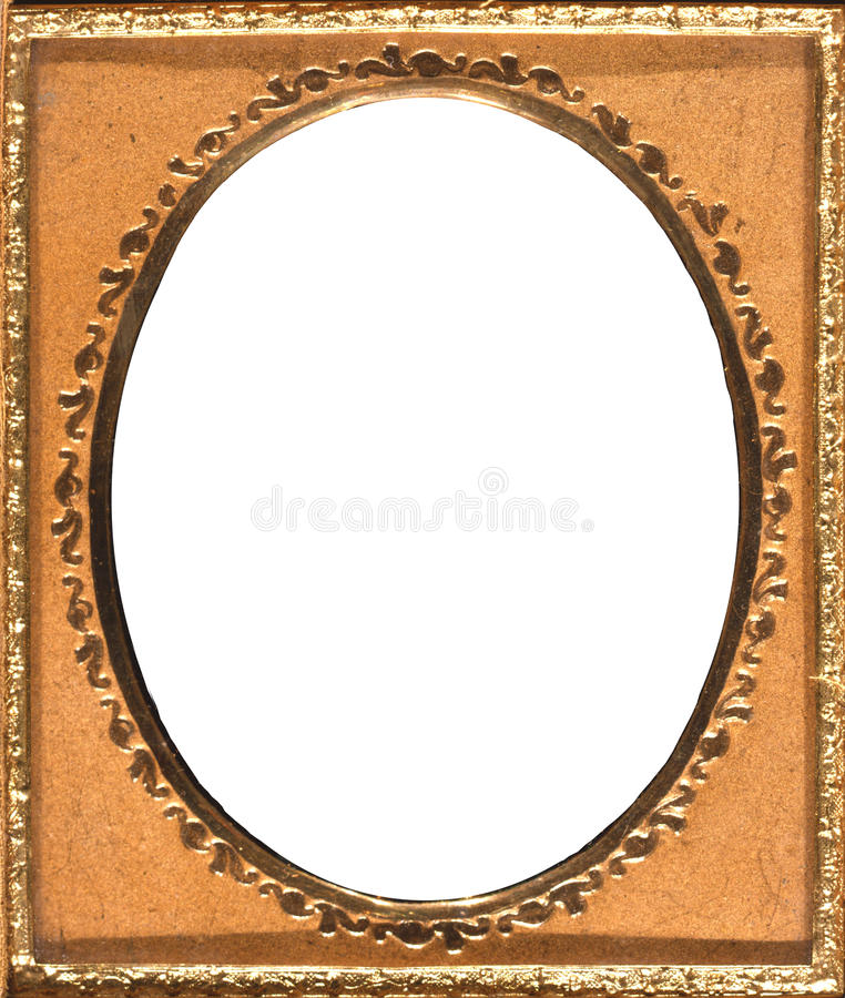 Retro Oval Gold Frame stock photography