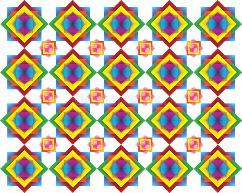 Retro płytka wzór Inspirował Islamskiego Geometrycznego wielo- kolor Sztuka papierowy falcowanie, Origami Nowożytna kwiecista tek royalty ilustracja