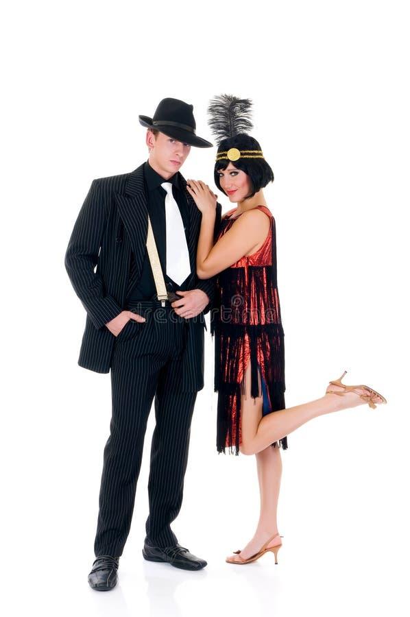 Retro- Paare, Lindy Hopfen stockfoto