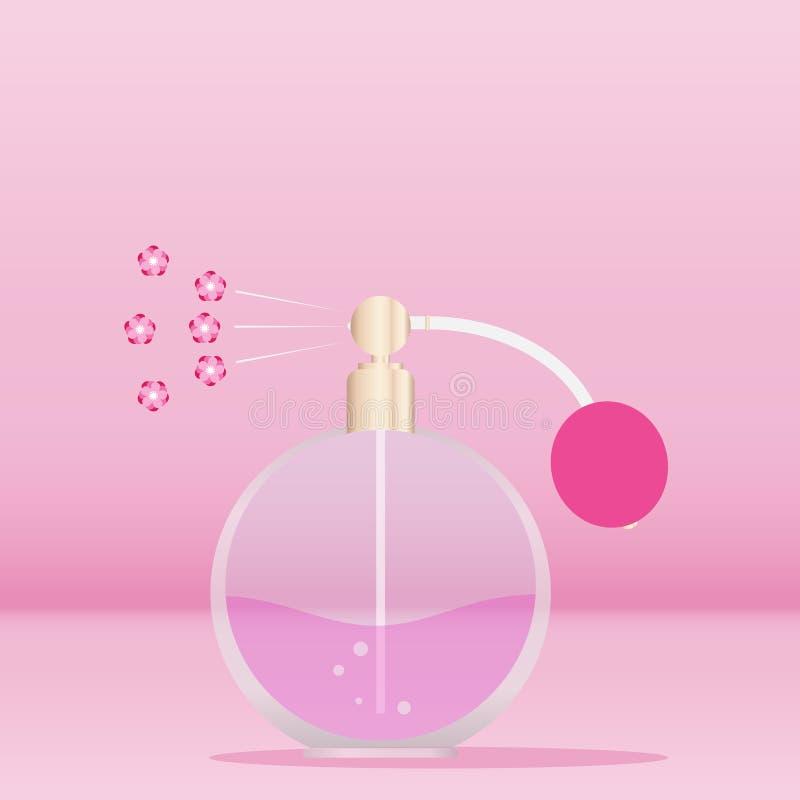 Retro pachnidło, retro pachnidło vaporizes kwiecistego perfumowanie royalty ilustracja