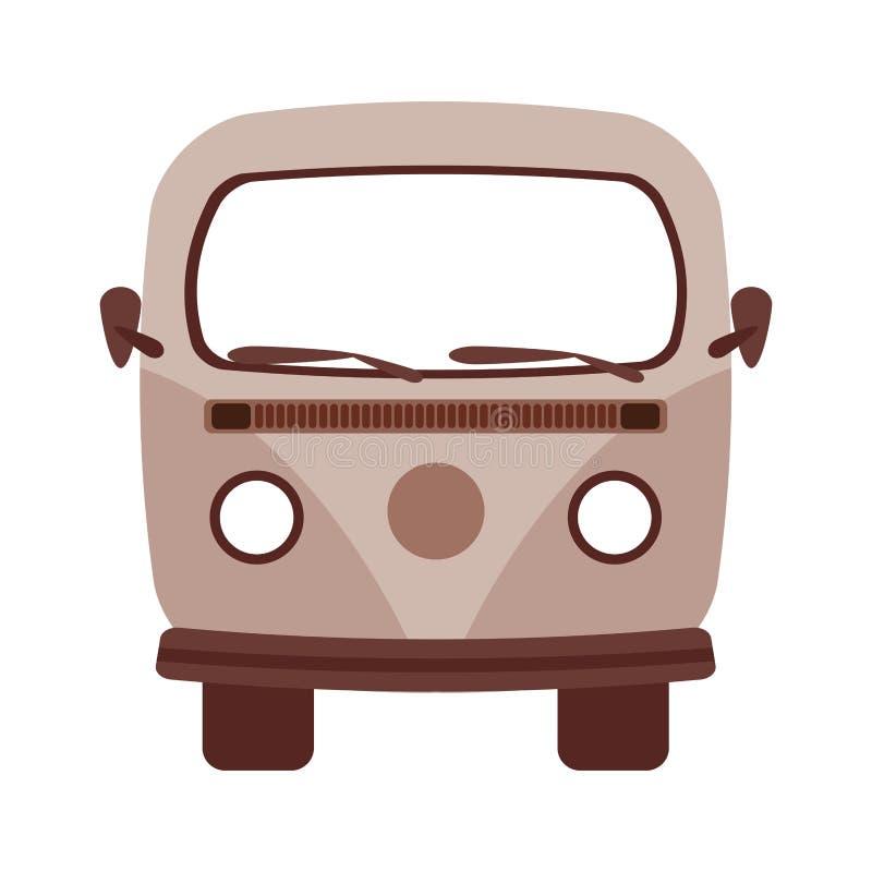 Retro- Packwagen lokalisiertes Ikonendesign lizenzfreie abbildung