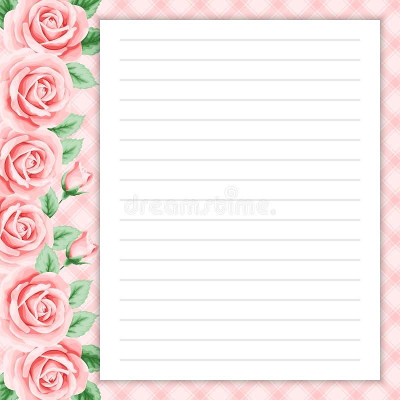 Retro pagina per le note illustrazione di stock