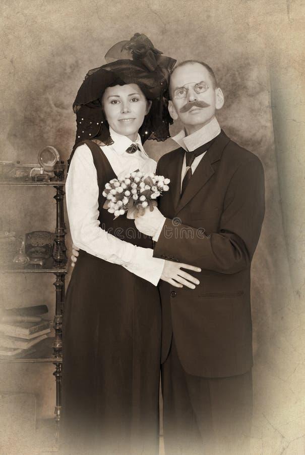 Retro para portret obrazy royalty free