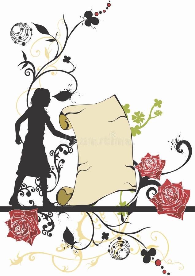 Retro parchment vector illustration