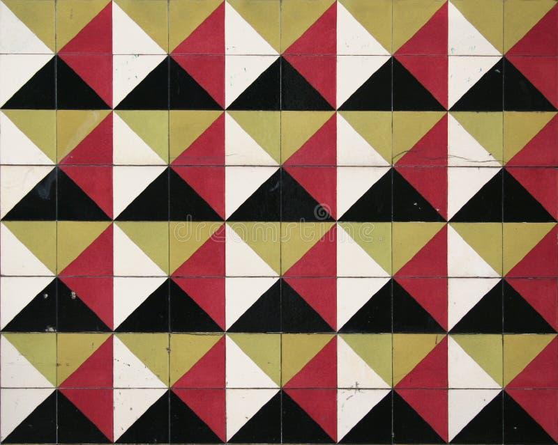 Retro parete delle mattonelle immagine stock