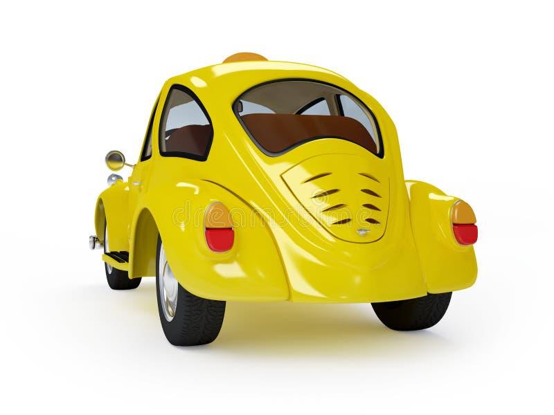 Retro parte posteriore del taxi illustrazione di stock
