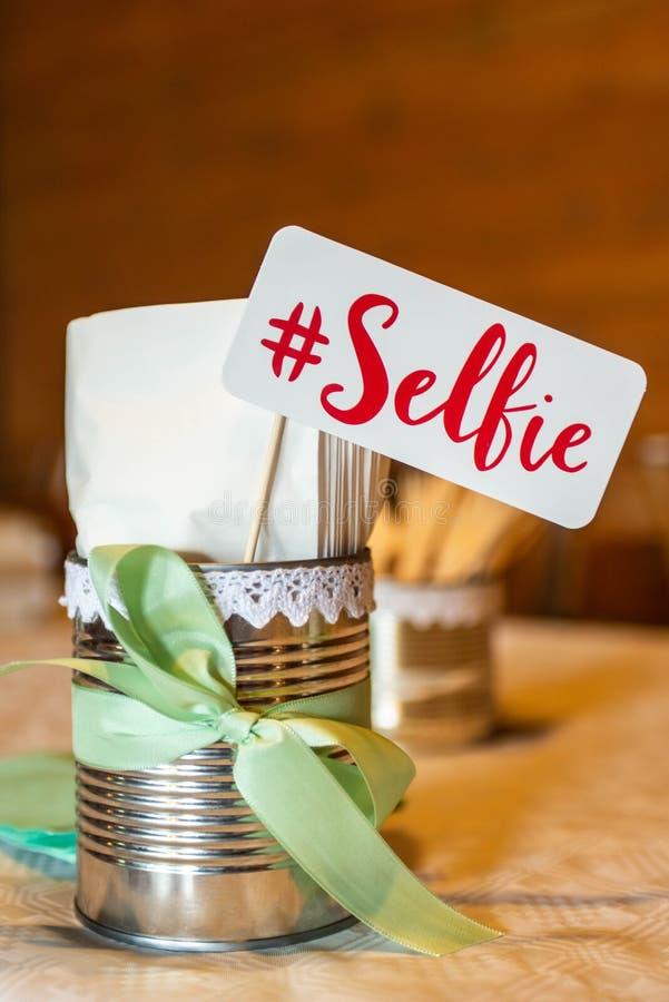 Retro parti för bås för foto för design för tecken för partiuppsättningselfie som gifta sig roliga bilder royaltyfria foton