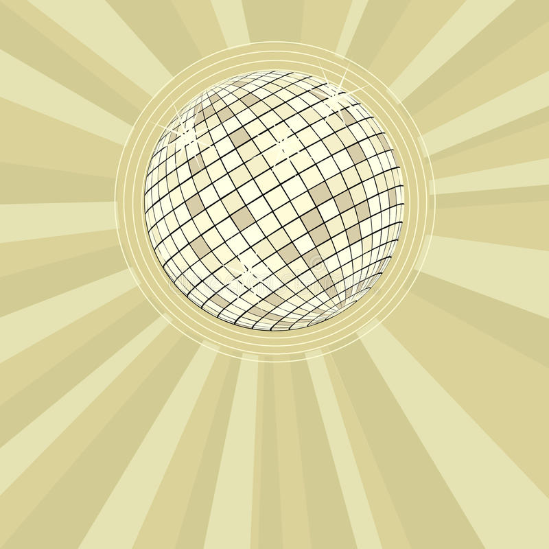 Download Retro Party Background With Disco Ball Stock Illustration - Illustration of disco, mirror: 11116740