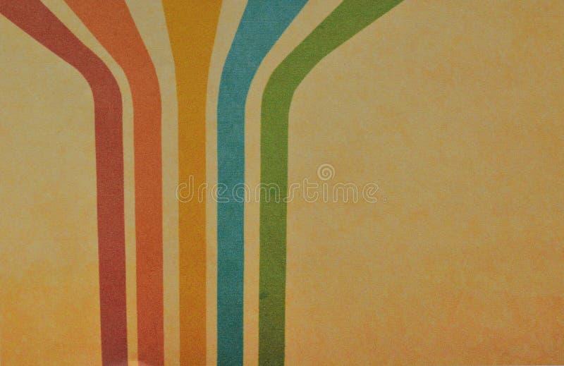 Retro pastelowi kolory z grunge tłem Rocznika motyw zdjęcie royalty free