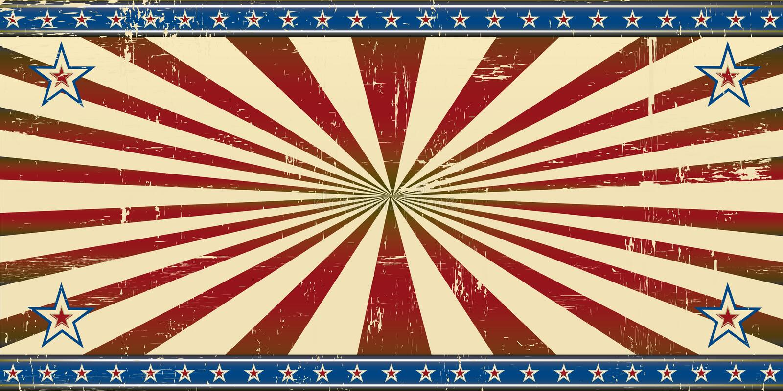 Retro patriotic banner royalty free stock image