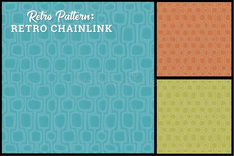 Retro Patroon Als achtergrond in 3 kleuren royalty-vrije illustratie