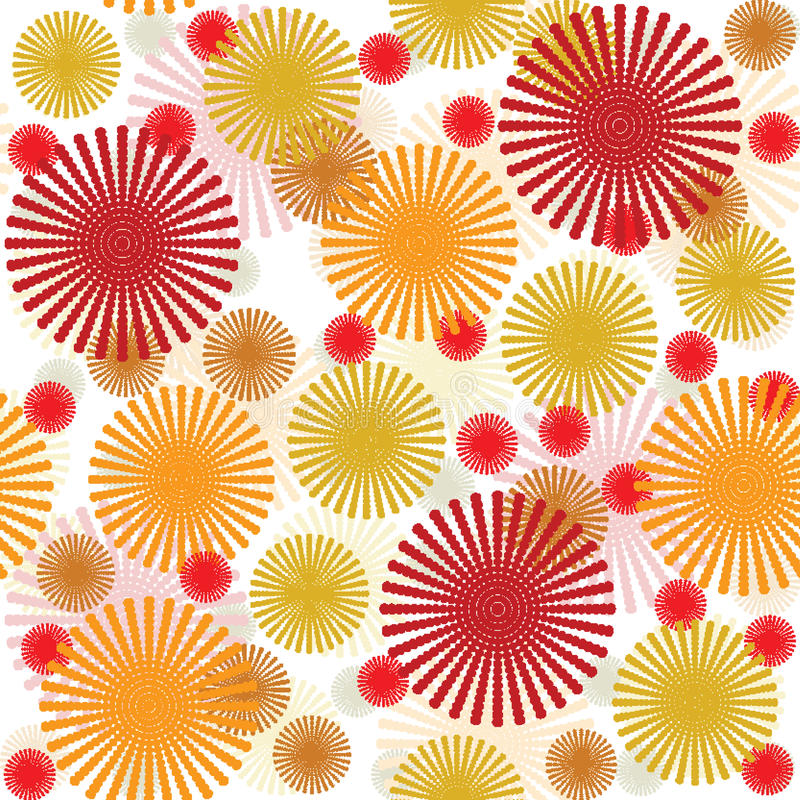Retro patroon met abstracte bloemen vector illustratie