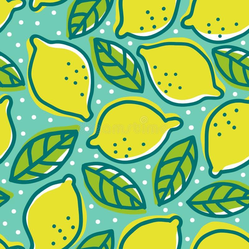 Retro patroon met citroenen vector illustratie