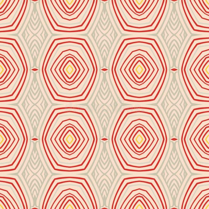 Retro patroon met ovale vormen in jaren '50stijl. vector illustratie