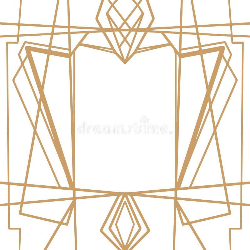 Retro patroon, uitstekende partij Grote Gatsby-stijlbanner of prentbriefkaar royalty-vrije illustratie