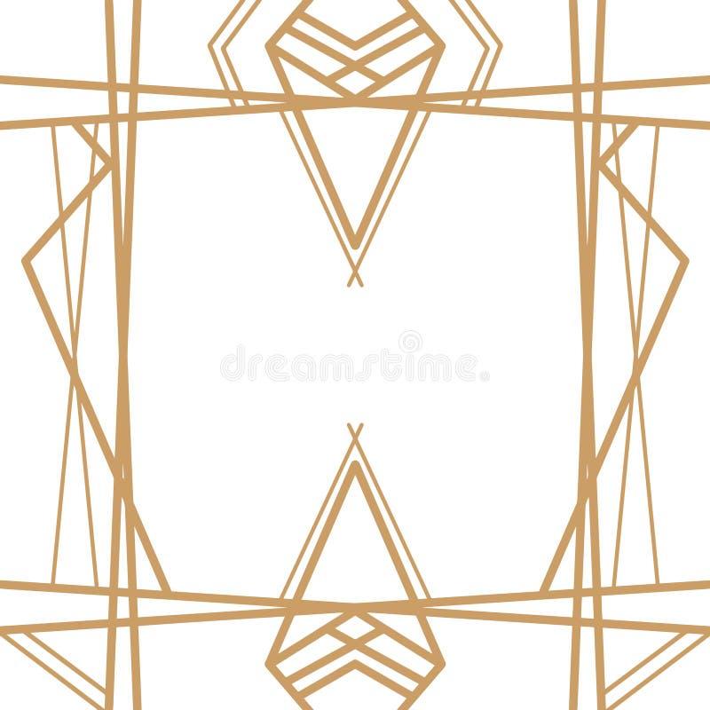 Retro patroon, uitstekende partij Grote Gatsby-stijlbanner of prentbriefkaar stock illustratie