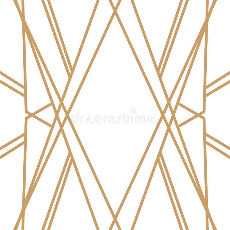 Retro patroon, uitstekende partij Grote Gatsby-stijlbanner of prentbriefkaar vector illustratie