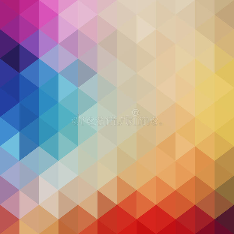 Retro patroon van geometrische vormen Kleurrijke mozaïekbanner Hipst royalty-vrije illustratie