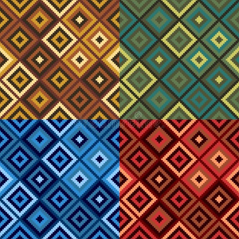 Retro Patroon van het Dekbed van de Diamant stock illustratie