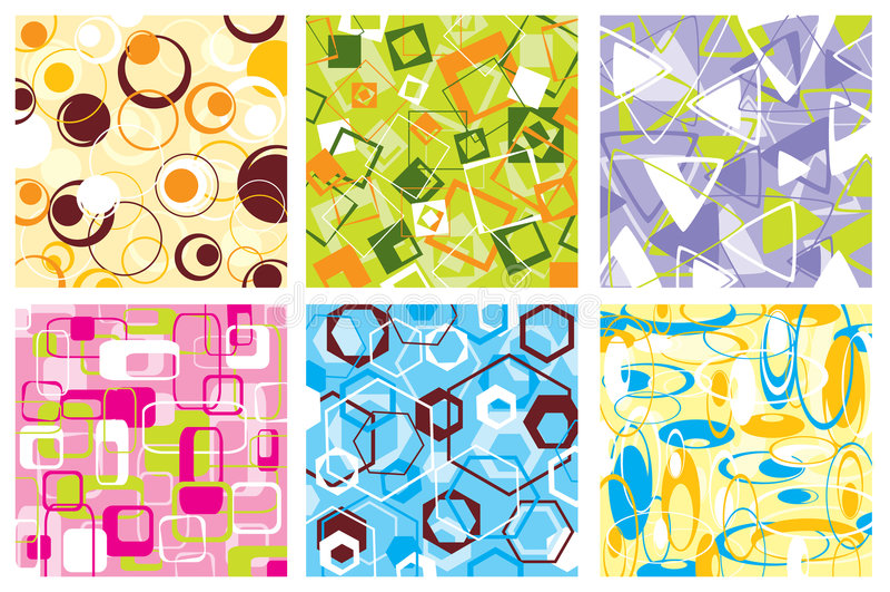 Retro patroon, vector stock illustratie