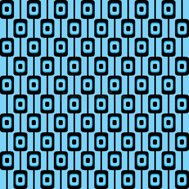Retro patroonachtergrond stock illustratie