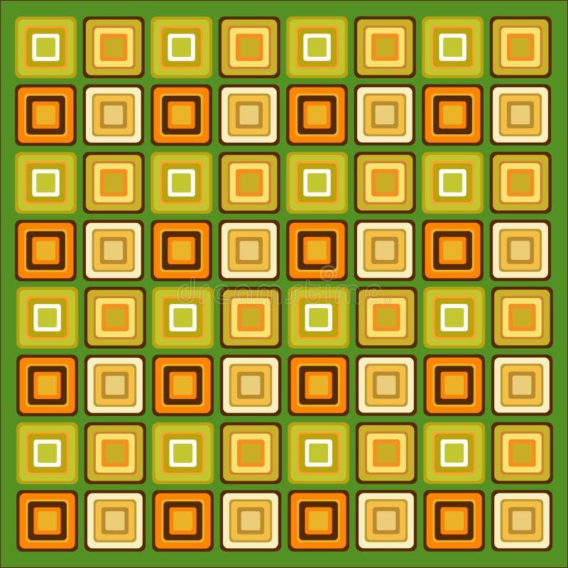 Retro patroonbehang als achtergrond royalty-vrije illustratie