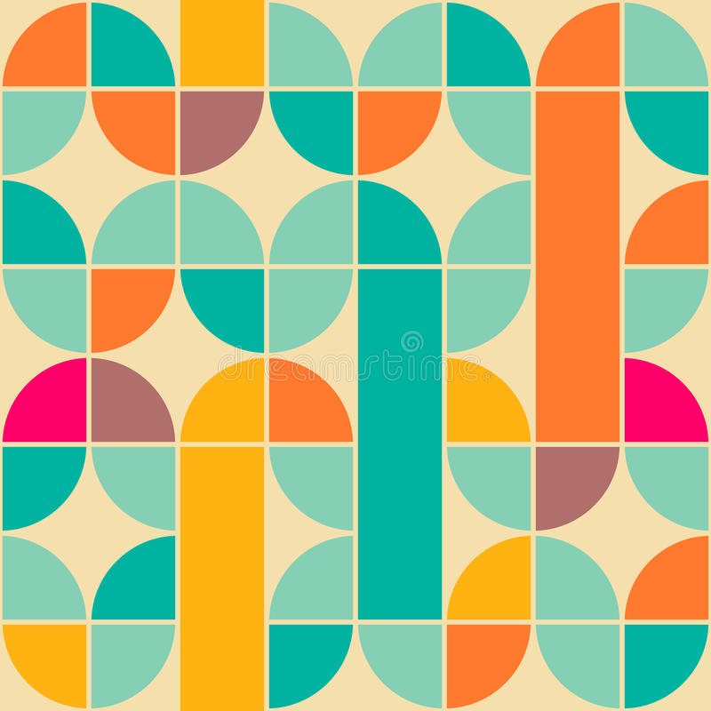 Retro pattern stock illustration