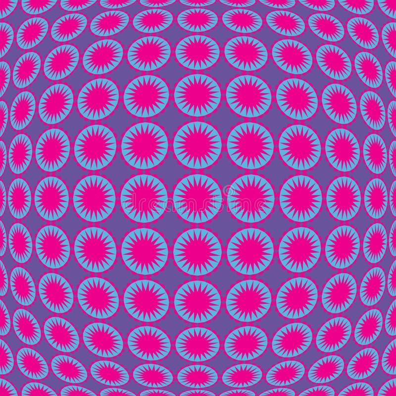 Retro pattern. Illustration of seamless convex retro pattern royalty free illustration