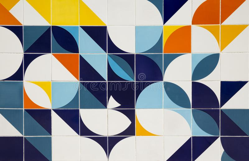 Retro pattern ceramic tiles. In Brazil royalty free stock photos