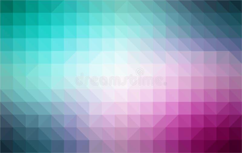 Retro pattern of geometric shapes. Colorful mosaic stock illustration