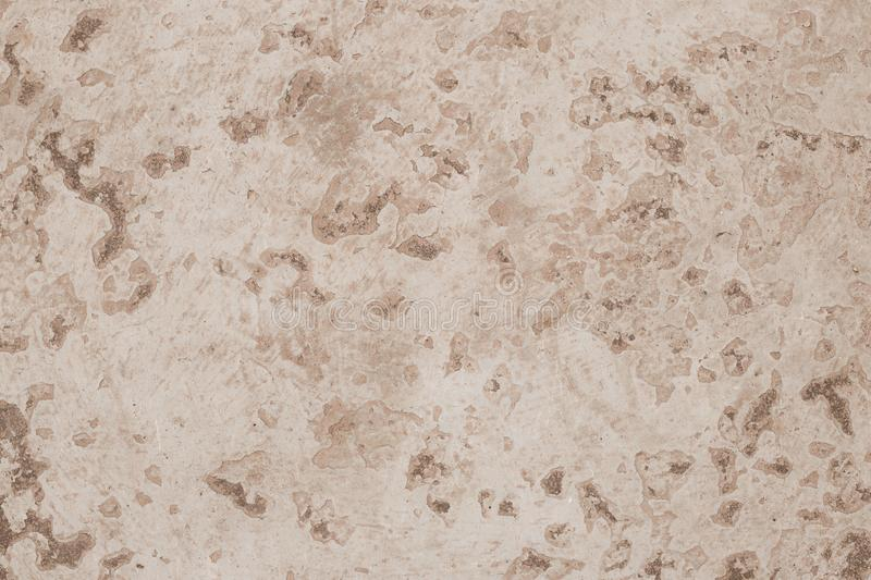 Retro pattern with soft brown texture cracked paint. Blank concrete beige wall texture background. Interior decoration. Empty spac. E. Exterior detail. Grunge stock image