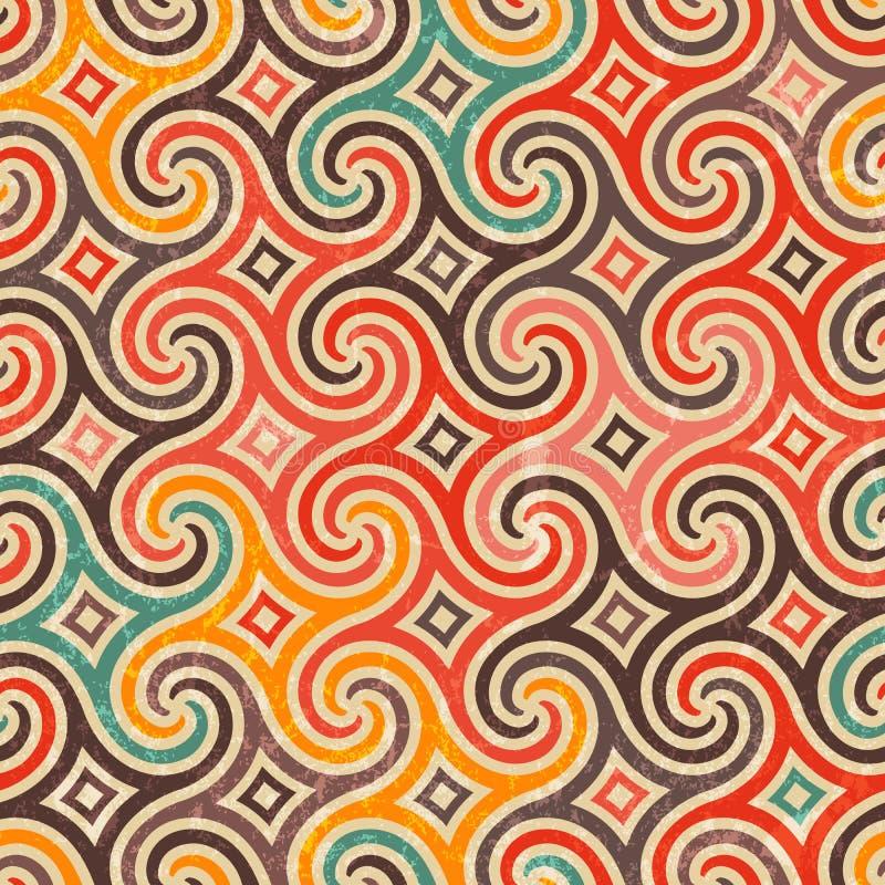 Retro pattern with swirls. stock illustration
