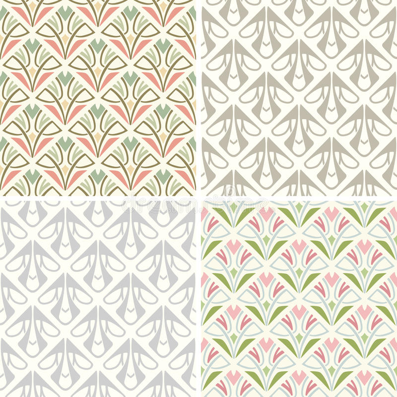 Retro patterns stock illustration