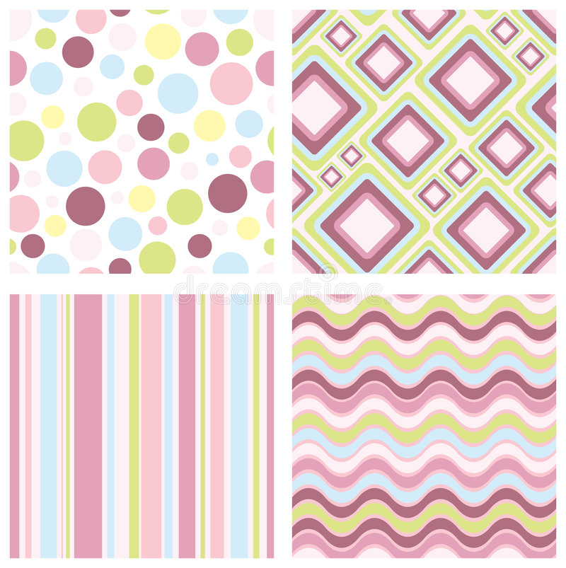 Download Retro patterns stock vector. Image of collection, circle - 9070888