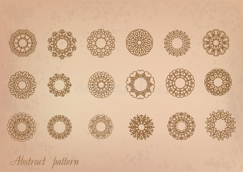 Retro patterns stock illustration