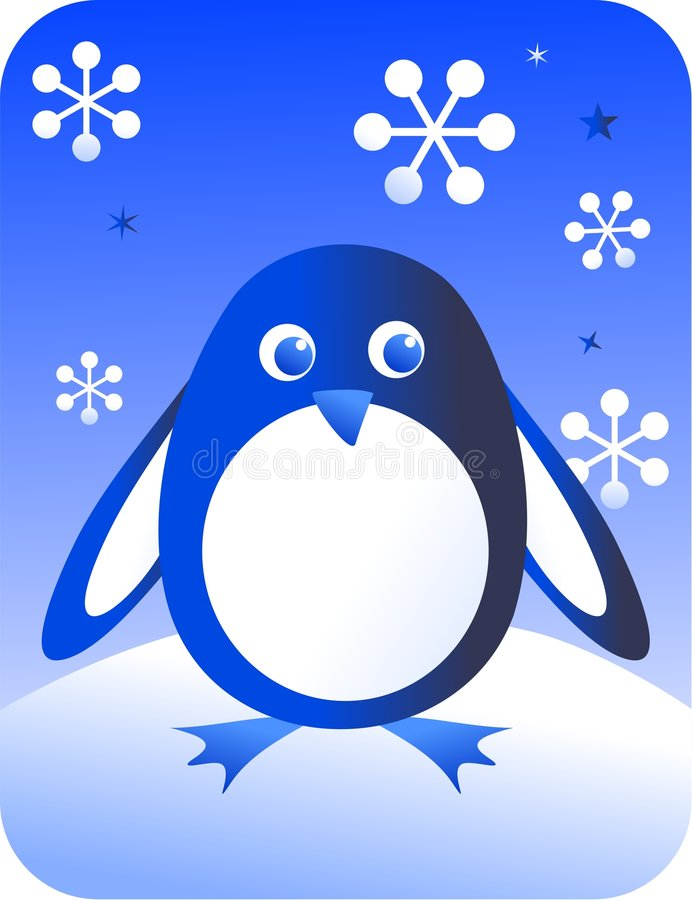 Retro penguin royalty free illustration
