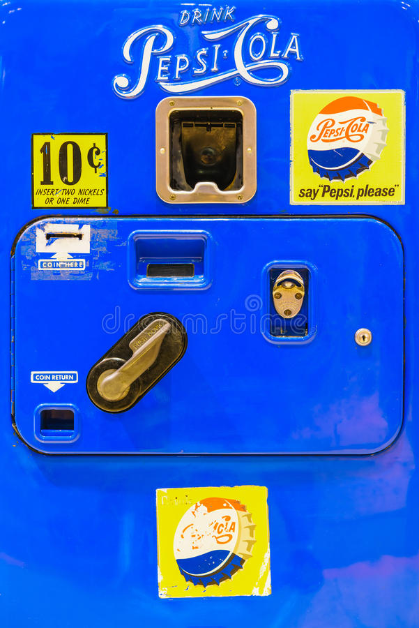 Retro Pepsi-Cola Vending Machine royalty free stock images