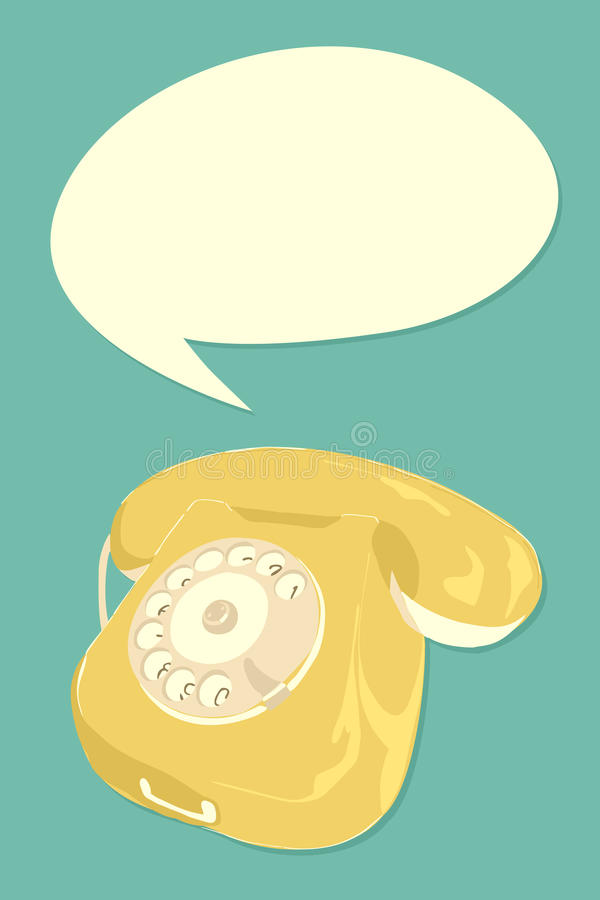 Retro phone royalty free illustration