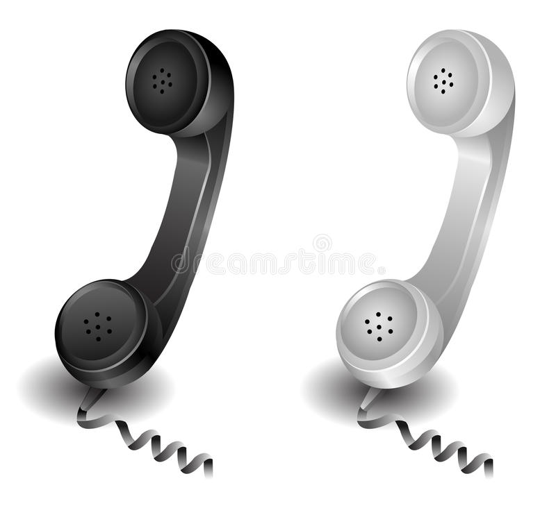 Retro phone. Retro classic phone telephone vector illustration