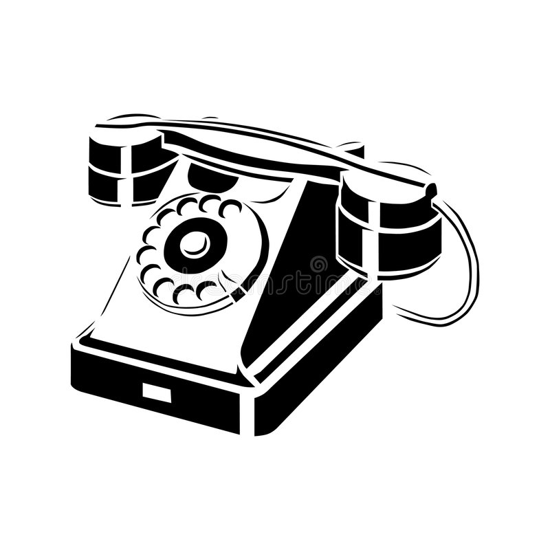 Retro phone royalty free illustration