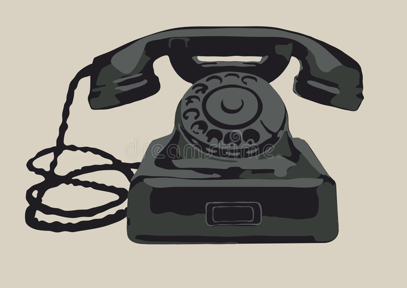 Download The retro phone stock vector. Illustration of rotate, handset - 8321701