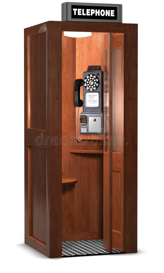Retro Phone Booth royalty free illustration