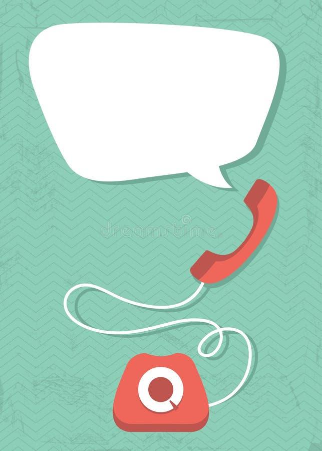 Download Retro phone stock vector. Illustration of bubble, graphic - 35604417