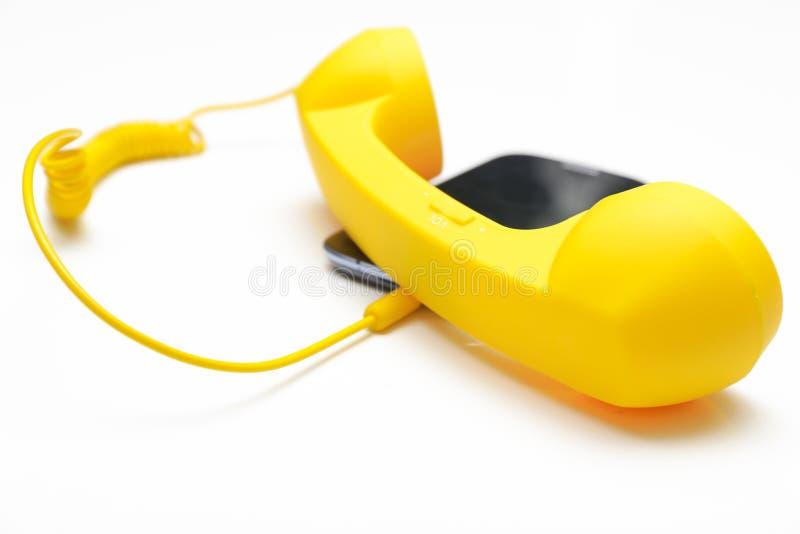 Download Retro phone stock photo. Image of yellow, communication - 36292826