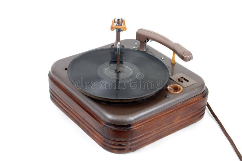 retro phonograph arkivfoto