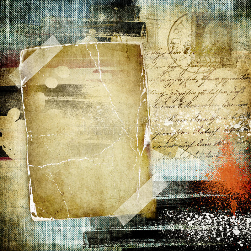 Retro photo album royalty free illustration