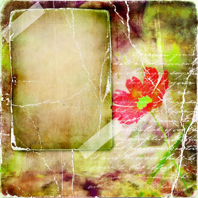 Download Retro photo-album stock illustration. Image of grunge - 9457810